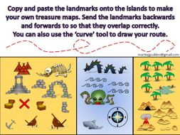 Pirates - Create your own treasure island map! Adventure Stories - KS2 (Copy and paste objects)