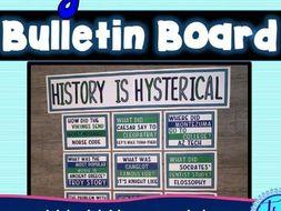 World History Jokes Bulletin Board - Classroom Posters