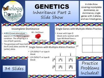Genetics: Inheritance Part 2 Slide Show