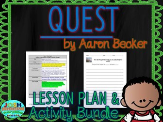 Quest by Aaron Becker Lesson Planner and Activities