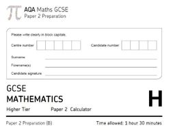 "AQA GCSE Maths Higher ""Predicted"" Paper 2 (2019) - Paper B"