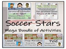 UKS2 Literacy - Greatest Football Stars Reading Comprehension & Writing Mega Bundle