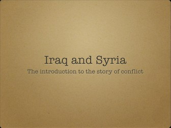 Introduction to conflicts in Iraq and Syria