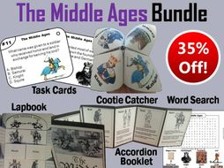 Middle Ages Task Cards and Activities Bundle