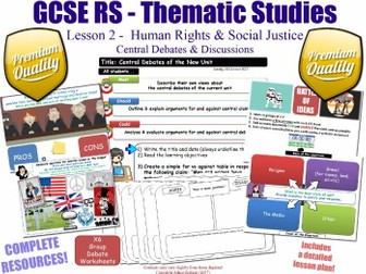 Religion, Human Rights & Social Justice - L2/10 [GCSE RS - Thematic Studies - Christian Views] KS4