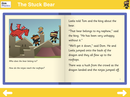 The Stuck Bear Reading Book - Phase 5
