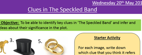 The Speckled Band full SOW