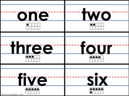 Sentence Strip Number Words (0-10): BONUS Ten Frame Cards