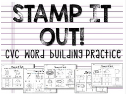 CVC Word Stamping- Beginning, Middle, and Ending Sounds