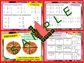 Fractions Improper and Mixed Numbers Revision or Whole Lesson