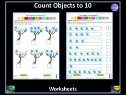 Count Objects to 10 Worksheets  - Resource To Support Delivery of  White Rose Maths Year 1 Unit