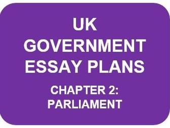 A LEVEL POLITICS ESSAY PLANS: UK GOVERNMENT CHAPTER 2