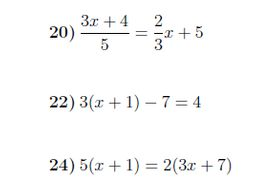 solving linear equations worksheet with solutions - Solving Linear Equations Worksheet