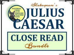 Shakespeare's Julius Caesar Close Reading Bundle
