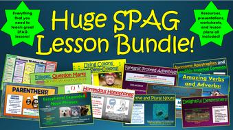 Huge SPAG Lesson Bundle!
