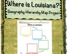 Geographic Map Of Louisiana.Where Is Louisiana Geographic Hierarchy Map Activity By