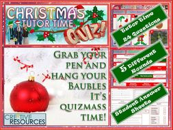 Christmas 2019 Quiz Tutor Time