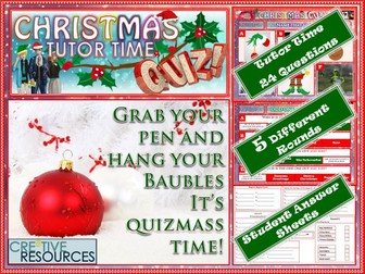 Christmas Quiz Tutor Time