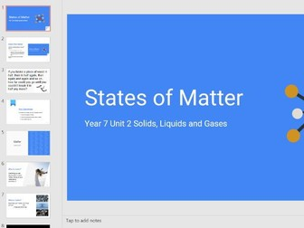 States of Matter Lesson - Year 7 Science KS3 - PowerPoint, PDF, Google Slides