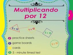 Multiplicando Por 12 - Spanish Multiplication Math Games and Lesson Plans