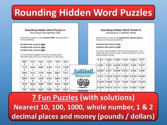 Rounding Worksheets (Puzzles)