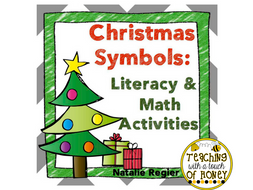 Christmas Symbols: Tiered Literacy and Math Activities