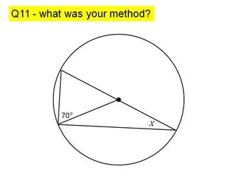 Circle theorems lesson 2