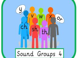 Sound Groups Bundle (v w x y ch sh th and or)