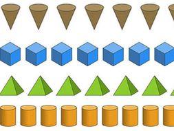 maths 3d shape patterns by goldstarteach teaching resources tes