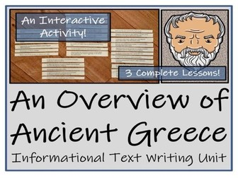 UKS2 History - Ancient Greece Informational Text Writing Unit