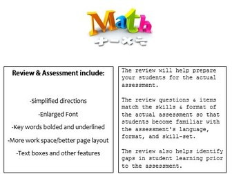 Grade 6, Math Module 5 REVIEW & ASSESSMENT w/Ans keys (printables & Smart Board)
