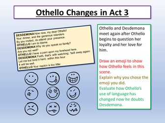 Othello Changes in Act 3