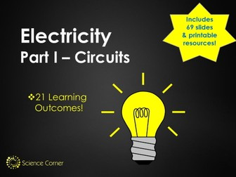Electricity KS3 Pack - Current, Voltage, Series, Parallel Electric Circuits, Compenents Y7 Y8