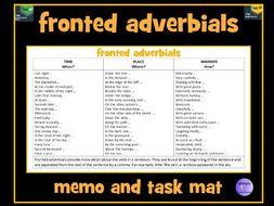 Fronted Adverbials Memo Mat