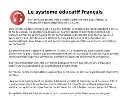 Le système éducatif français - Listening and Transcript