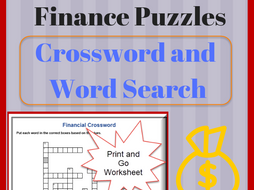 Finance Crossword Puzzle and Word Search Vocabulary