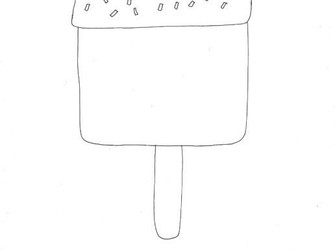 Ice Lolly 1, (Seaside, Seasons, Food) Colouring Page
