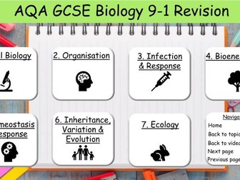 AQA GCSE Science Biology Revision 9-1