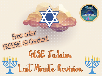 Last Minute Judaism Revision. FREE! Enter code: FREERESOURCE @ Checkout!