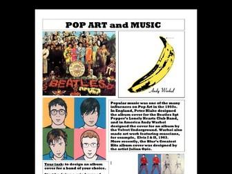 Pop Art album cover worksheet
