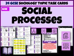 Social Structures, Processes and Issues Sociology Task Cards
