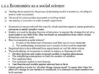 Edexcel Economics AS-Level Unit 1.1 Nature of Economics: all the revision notes you need to know