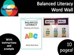 word wall working with words balanced literacy inclusivity by