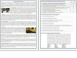 7 Modern Day Child Prodigies - Reading Comprehension Worksheet / Text