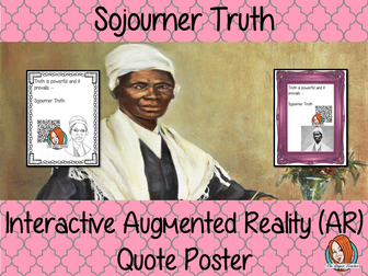 Sojourner Truth Interactive Quote Poster