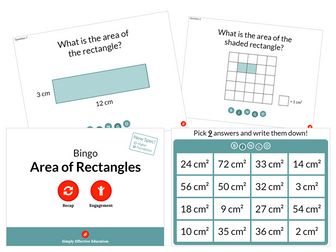 Area of Rectangles (Bingo)
