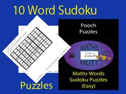 pooch puzzles maths words sudoku puzzles easy by mathsmutt