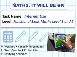 FS Maths Level 1 and 2 - Statistics - Internet Use - Exam Style