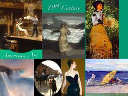 19th Century American Art SHOW + TEST = 266 Slides - 1800s