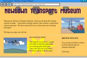 Interactive Information Website - Vehicles - KS2 Literacy
